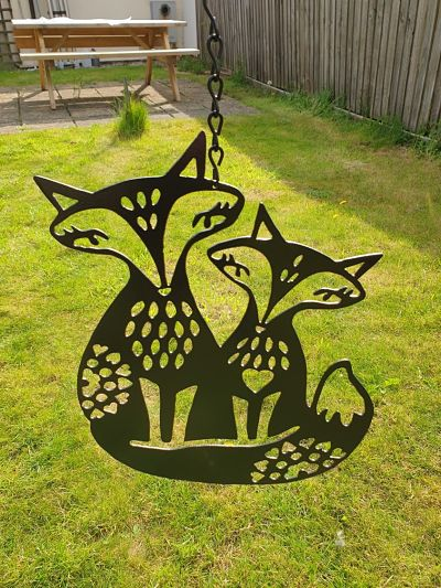 Wall Art - Foxes - Dawn Caley - Westfield Metalcrafts