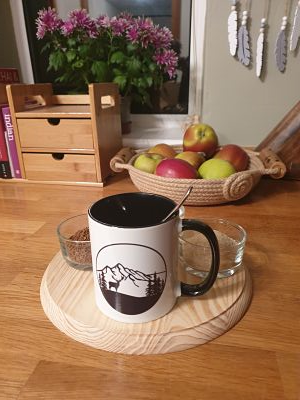 Printed Mug - Stag in the Mountains - Dawn Caley - Westfield Metalcrafts