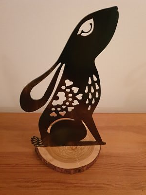 Tea-Light Holders - Hare - Dawn Caley - Westfield Metalcrafts