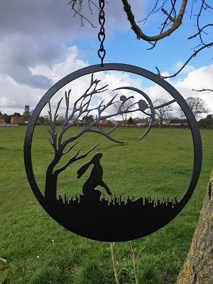 Wall Art - Moon Gazing Hare - Dawn Caley - Westfield Metalcrafts