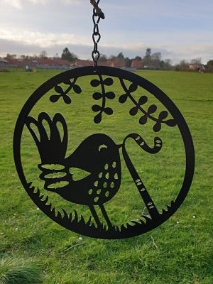 Wall Art - Bird Pulling Worm - Dawn Caley - Westfield Metalcrafts