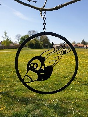 Wall Art - Flying Eight Ball - Dawn Caley - Westfield Metalcrafts