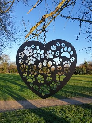 Wall Art - Paws Heart - Dawn Caley - Westfield Metalcrafts