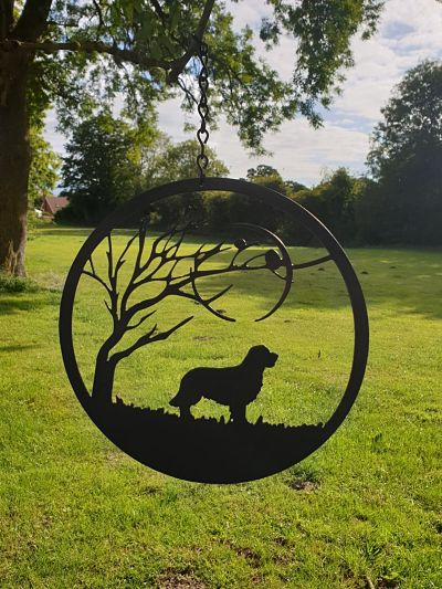 Wall Art - Retriever under the Moon - Dawn Caley - Westfield Metalcrafts