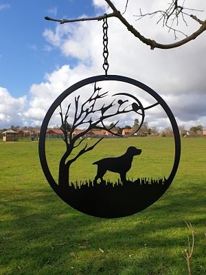 Wall Art - Spaniel under the Moon - Dawn Caley - Westfield Metalcrafts