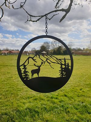 Wall Art - Stag in the Mountains - Dawn Caley - Westfield Metalcrafts