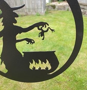 Wall Art - Witch and Cauldron - Dawn Caley - Westfield Metalcrafts