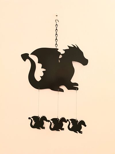 Wind Chimes - Baby Dragon - Dawn Caley - Westfield Metalcrafts
