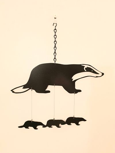 Wind Chimes - Mr. Badger - Dawn Caley - Westfield Metalcrafts