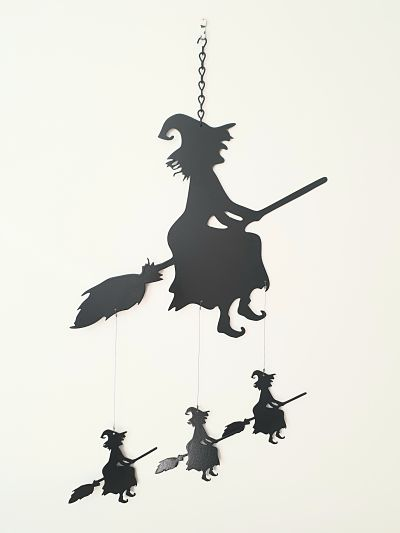 Wind Chimes - Hag Witch - Dawn Caley - Westfield Metalcrafts