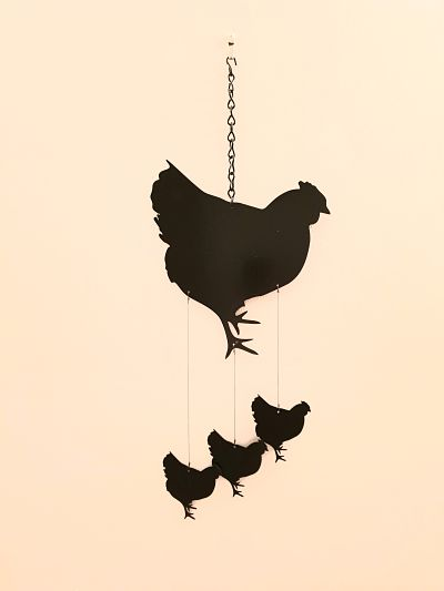 Wind Chimes - Henrietta Hen - Dawn Caley - Westfield Metalcrafts