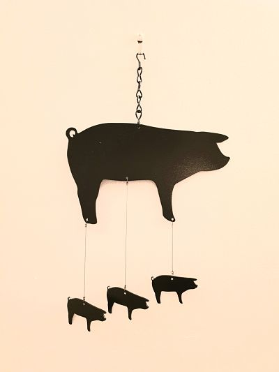 Wind Chimes - Classic Pig - Dawn Caley - Westfield Metalcrafts