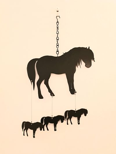Wind Chimes - Classic Pony - Dawn Caley - Westfield Metalcrafts