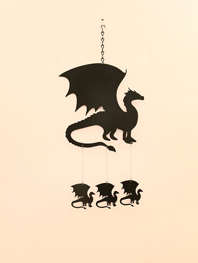 Wind Chimes - Standing Dragon - Dawn Caley - Westfield Metalcrafts