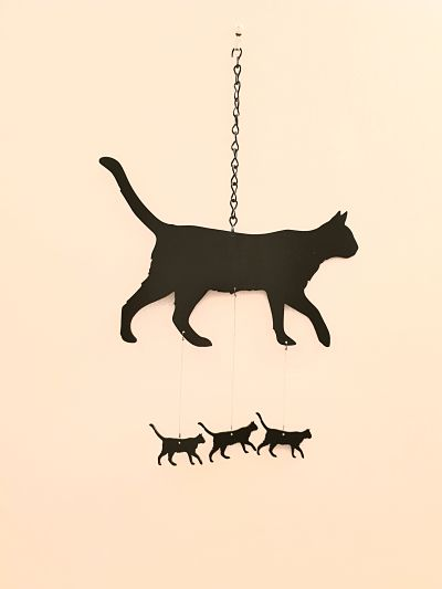 Wind Chimes - Walking Cat - Dawn Caley - Westfield Metalcrafts