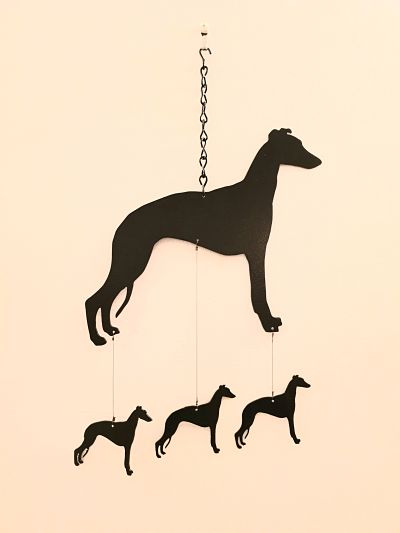 Wind Chimes - Whippet - Dawn Caley - Westfield Metalcrafts