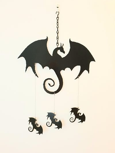 Wind Chimes - Winged Dragon - Dawn Caley - Westfield Metalcrafts