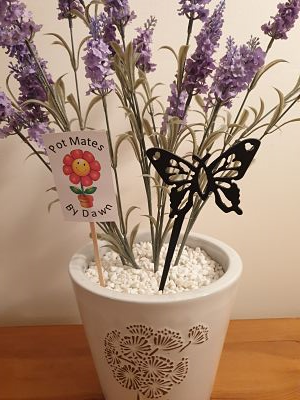 Pot Mates - Butterfly - Dawn Caley - Westfield Metalcrafts